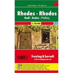 Rodosz térkép 1: 120 000  Freytag  AK 0813 IP Rodosz zsebtérkép, Rhodos térkép