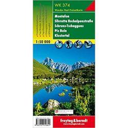 WK 374 Montafon, Silvretta Hochalpenstraße, Schruns Tschagguns, Piz Buin, Klostertal turistatérkép 1:50 000