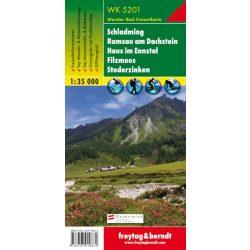 WK 5201 Schladming, Ramsau am Dachstein, Haus im Ennstal, Filzmoos, Stoderzinken turistatérkép 1:35 000