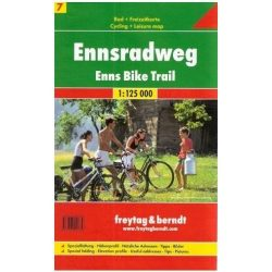 Ennsradweg kerékpáros térkép Freytag 1: 125 000