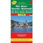 Eifel, Mosel, Hunsrück, Westerwald térkép  Top 10 tipp térkép  1:150 000  Freytag térkép DEU 8