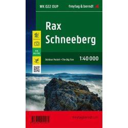 Rax turistatérkép, Schneeberg túra térkép pocket vízálló 1: 40 000