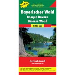 Bajor-erdő térkép, Bayerischer Wald, Top 10 tipp, 1:150 000 Freytag térkép DEU 13