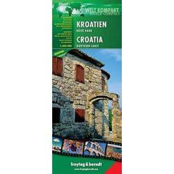 Horvátország, Isztria, Dalmácia, Split térkép Freytag  1:100 000 AK 7403N WCS