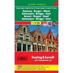 Brugge térkép Freytag 1:12 500  Antwerpen, Brügge, Gent térkép