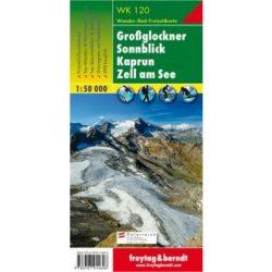 WK 120 Großglockner, Sonnblick,  Kaprun, Zell am See turistatérkép 1:50 000