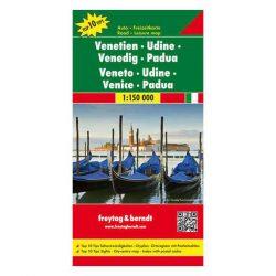 Veneto térkép, Udine, Velence, Padova térkép TOP 10 1:150 000  Freytag AK 0621