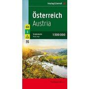 Ausztria térkép Freytag  1:300 000  kétoldalas részletes Ausztria autótérkép