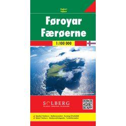 Faroe térkép, Faroe-Szigetek térkép Freytag 1:100 000  2020