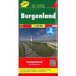 Burgenland térkép   Top 10 tipp, 1:150 000  Freytag térkép 2016