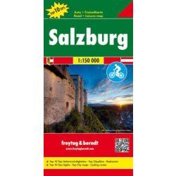 Salzburg környéke térkép , Salzkammergut Top 10 Salzburg térkép 1:150 000  Freytag