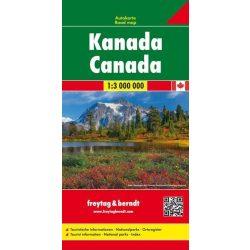 Kanada térkép  1:3 000 000  Freytag Kanada autós térkép
