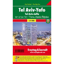 Tel Aviv térkép, Jaffa térkép 1:9 400 City Pocket vízhatlan térkép Freytag