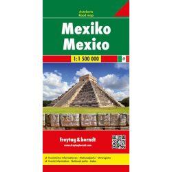 Mexikó térkép, 1:1 500 000  Freytag Mexico térkép