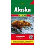 Alaszka autótérkép, Alaszka térkép Freytag 1:1 500e