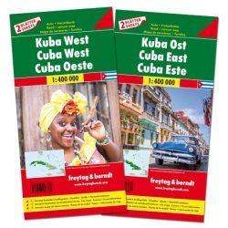 Kuba térkép, Kuba észak és dél térkép csomag 1:1 400 000  Freytag  2016
