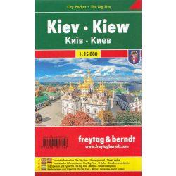 Kiev térkép Freytag city pocket 1:15 000  Kiew térkép, Kijev várostérkép fóliás zsebtérkép 2018