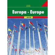 Európa atlasz Freytag & Berndt 1:800 000 2019 Európa autóatlasz rejtett spirálkötéssel