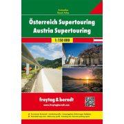 Ausztria atlasz, Ausztria térkép, Ausztria Supertouring atlasz 2019 Freytag & Berndt 1:150 000