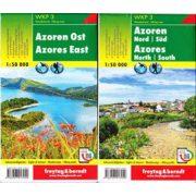 WKP 3 Azori-szigetek turistatérkép Freytag 1:50 000  2019