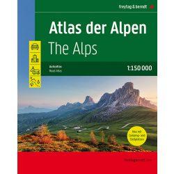 Alpok atlasz, Alpok autós atlasz Freytag 1:150 000
