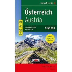 Ausztria autós atlasz Freytag & Berndt Ausztria kerékpáros atlasz 1:150 000