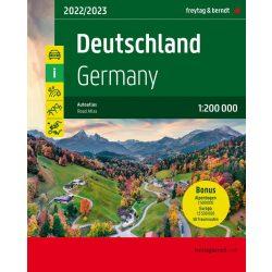 Németország autós atlasz, Alpok autós atlasz, Németország autóatlasz, Németország, Alpok autós térkép 1:200e, 1:500e