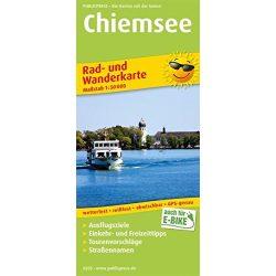 Chiemsee kerékpáros térkép, Chiemsee turistatérkép vízálló 1:50 000: Rad- und Wanderkarte mit Ausflugszielen, Einkehr- & Freizeittipps Publicpress kiadó