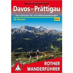 Davos I Prättigau túrakalauz Bergverlag Rother német   RO 4010