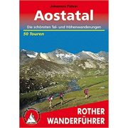 Aostatal túrakalauz Bergverlag Rother német   RO 4033