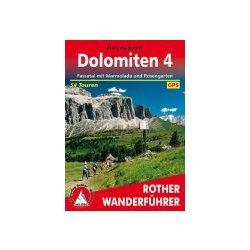 Dolomiten 4 – Fassatal I Marmolada I Rosengarten túrakalauz Bergverlag Rother német   RO 4061