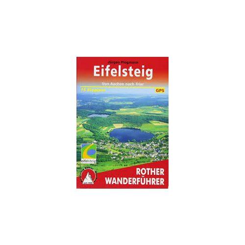 Eifelsteig túrakalauz Bergverlag Rother német   RO 4065
