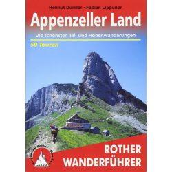 Appenzeller Land túrakalauz Bergverlag Rother német   RO 4086