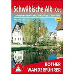 Schwäbische Alb Ost – Zwischen Uracher Alb und Albuch I Härtsfeld túrakalauz Bergverlag Rother német   RO 4117
