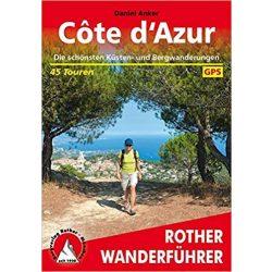 Côte d'Azur túrakalauz Bergverlag Rother német   RO 4120