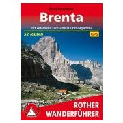 Brenta – Mit Adamello, Presanella und Paganella túrakalauz Bergverlag Rother német   RO 4181