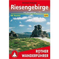 Riesengebirge túrakalauz – Mit Isergebirge Riesengebirge turistatérkép Bergverlag Rother német   RO 4222