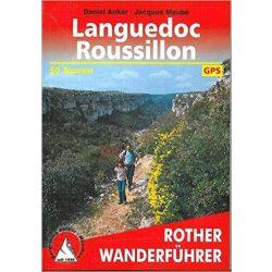 Languedoc-Roussillon túrakalauz Bergverlag Rother német   RO 4306