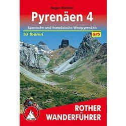 Pyrenäen 4 – Spanische und französische Westpyrenäen túrakalauz Bergverlag Rother német   RO 4318