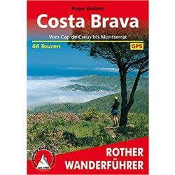 Costa Brava túrakalauz Bergverlag Rother német   RO 4328