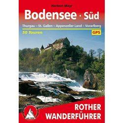 Bodensee Süd – Thurgau I St. Gallen I Appenzeller Land I Vorarlberg túrakalauz Bergverlag Rother német   RO 4348