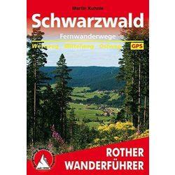 Schwarzwald Fernwanderwege túrakalauz Bergverlag Rother német   RO 4398