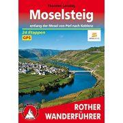 Moselsteig – Entlang der Mosel von Perl nach Koblenz túrakalauz Bergverlag Rother német   RO 4433