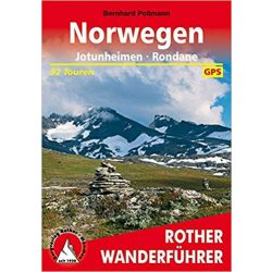 Norwegen – Jotunheimen I Rondane túrakalauz Bergverlag Rother német   RO 4435