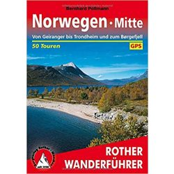 Norwegen Mitte túrakalauz Bergverlag Rother német   RO 4436