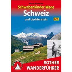 Schwabenkinder-Wege – Schweiz und Liechtenstein túrakalauz Bergverlag Rother német   RO 4439