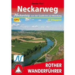 Neckarweg – Neckarsteig von der Quelle bis zur Mündung túrakalauz Bergverlag Rother német   RO 4443