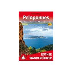 Peloponnes túrakalauz Bergverlag Rother német   RO 4446