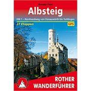 Albsteig túrakalauz Bergverlag Rother német   RO 4472