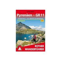 Pyrenäen – GR 11 túrakalauz Bergverlag Rother német   RO 4487
